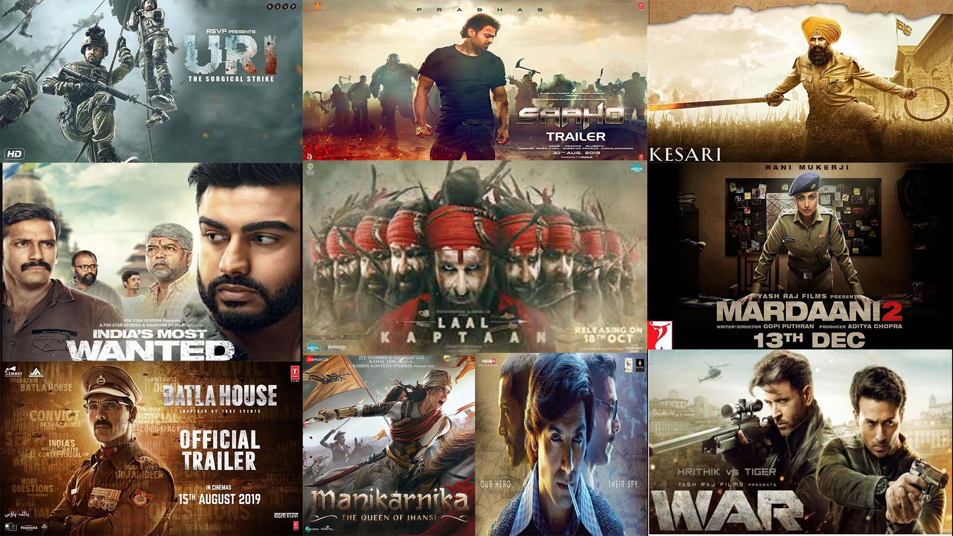 Top 10 Bollywood Action-thriller Movie in 2019