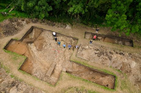 Gli scavi (Adam Stanford/Aerial-Cam)