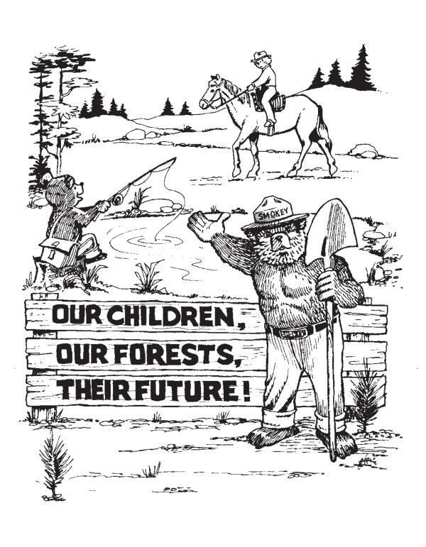 smokey the bear coloring pages # 38
