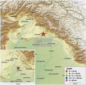 Earth quake in North india