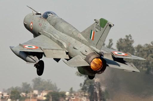 fighter jet crashes in Punjab