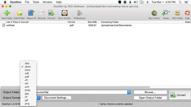 Doxillion PDF to Word Converter
