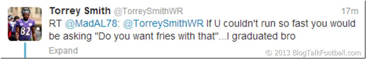 Torrey Smith on Twitter