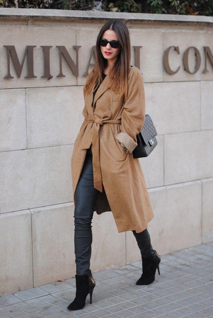 Zina Charkoplia is wearing a robe coat from #Zara
