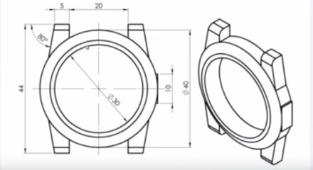 Tuto SolidWorks - Esquisse et creation d un boitier de montre - jf2