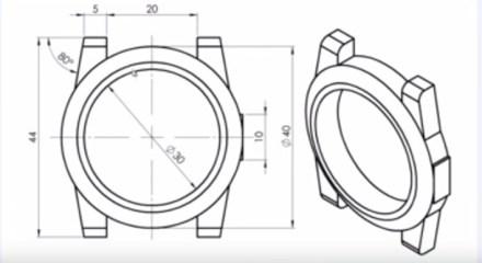 Tuto SolidWorks - Esquisse et creation d un boitier de montre - jf2