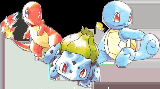 Pokémon iniciales Kanto