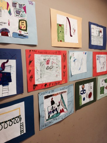 The elementary students' work is displayed in the multipurpose room---be sure to check them out!