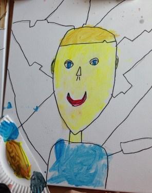 Self-portrait, 6-year-old boy