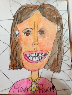 Self-portrait, 6-year-old girl