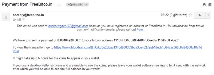 Bằng chứng nhận thanh toán từ trang kiếm bitcoin free