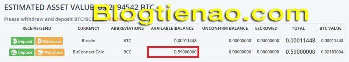 Mua BCC bằng BTC để Lending. Ảnh 3