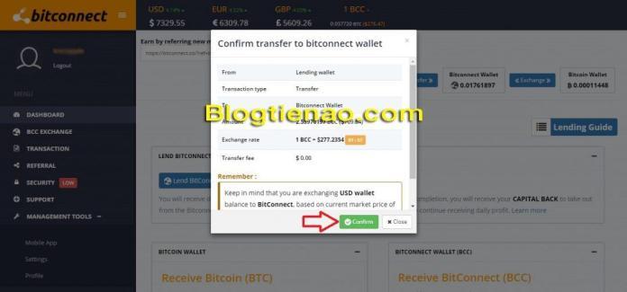 Rút lãi Bitconnect. Ảnh 3