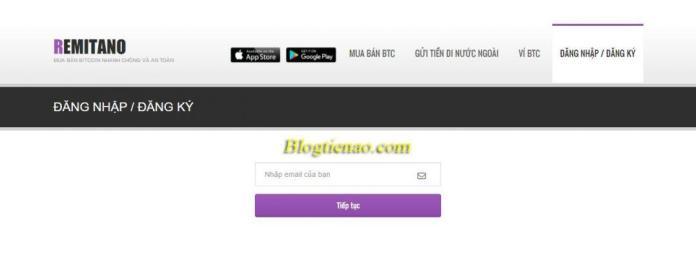 Đăng ký tài khoản chợ bitcoin Remitano
