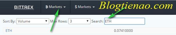 Tìm người bán Altcoin