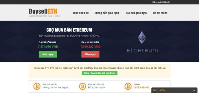 Sàn mua bán Ethereum uy tín Buyselleth.com