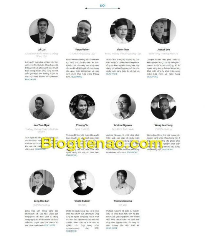 Đội ngũ phát triển và cố vấn của Kyber Network