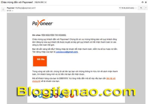 Cách yêu cầu Payoneer gửi thẻ. Ảnh 1