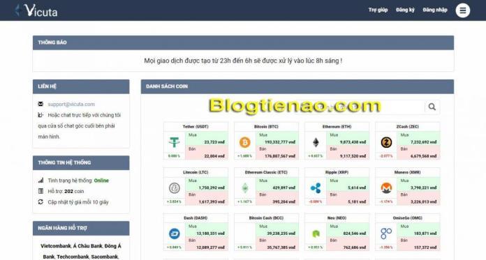 Vicuta – Giới thiệu sàn giao dịch mua bán Bitcoin và Altcoin uy tín tại Việt Nam