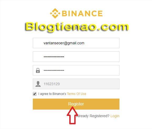 Hướng dẫn đăng ký tài khoản Binance. Ảnh 2
