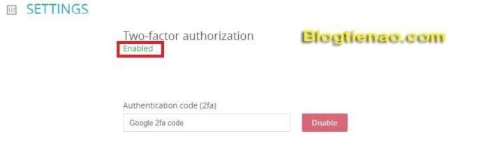 Bật bảo mật 2FA cho tài khoản YoBit. Ảnh 6