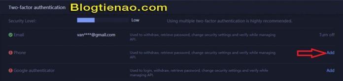 Bảo mật tài khoản HuobiPro. Ảnh 2