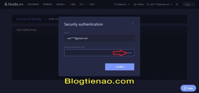 Bảo mật tài khoản HuobiPro. Ảnh 5