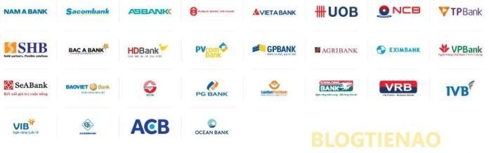 Danh sách ngân hàng hỗ trợ liên kết ATM