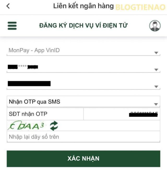 Thêm ví điện tử VinID