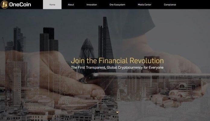 Trang web của OneCoin.