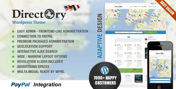 top selling directory theme
