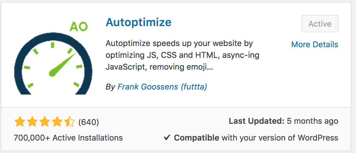 speed up my website site speed website checker sitegriund website speed test autoptimize plugin
