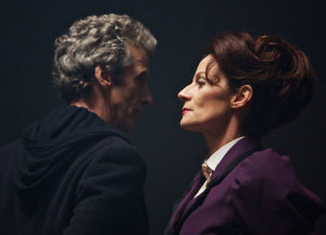 Doctor Who - TX: 19/09/2015 - Episode: THE MAGICIAN APPRENTICE (By Steven Moffat) (No. 1) - Picture Shows: The Doctor (PETER CAPALDI), Missy (MICHELLE GOMEZ) - (C) BBC - Photographer: Simon Ridgway