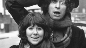 Elisabeth Sladen and Fourth Doctor Tom Baker
