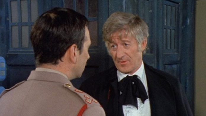Brigadier Alistair Gordon Lethbridge-Stewart (Nicholas Courtney) and The Doctor (Jon Pertwee) - Doctor Who - Spearhead From Space (c) BBC
