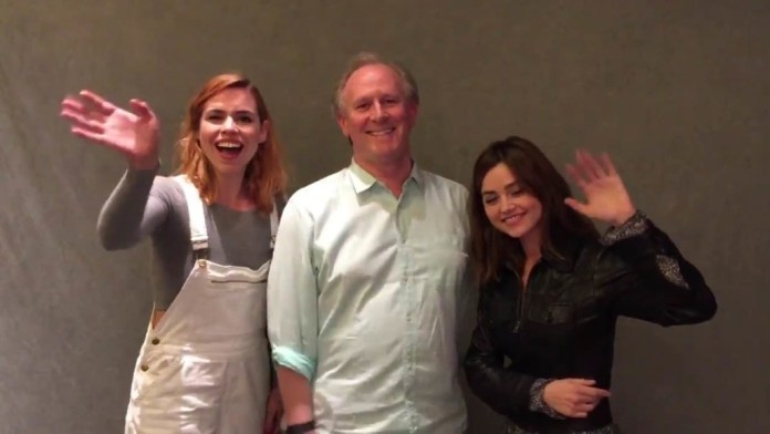 Billie Piper, Peter Davison and Jenna Coleman