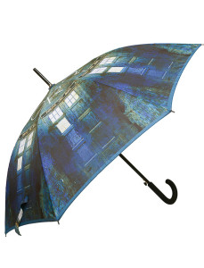 "Lovarzi - Doctor Who TARDIS Stick Umbrella with 23"" Canopy - Official BBC Umbrella"