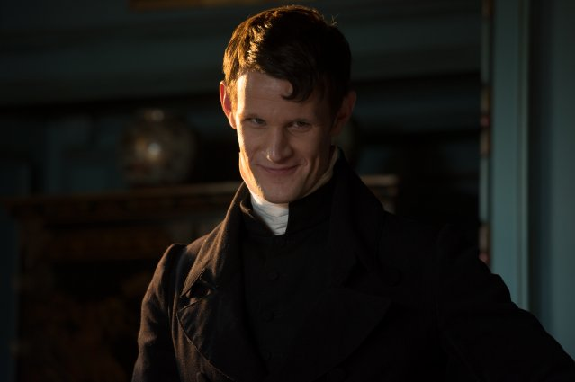 Matt Smith as Mr. Collins in PRIDE AND PREJUDICE AND ZOMBIES - LIONSGATE UK