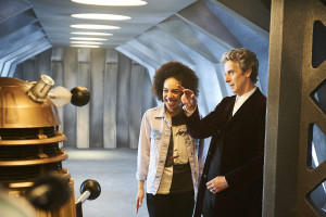 Doctor Who S10 - MEET PEARL MACKIE - THE DOCTOR'S NEW COMPANION Pearl Mackie, The Doctor (PETER CAPALDI) - (C) BBC - Photographer: Ray Burmiston