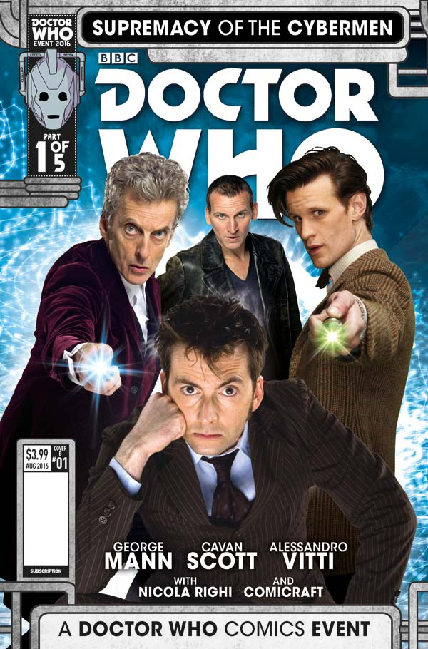 Doctor Who Comic - 'Supremacy of the Cybermen' - Cover A Phot Variant (c) Titan Comics