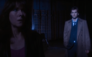 Sarah Jane Smith (Elisabeth Sladen) & The Doctor (David Tennant) - Doctor Who - School Reunion (c) BBC