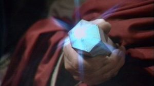 The blue crystal clears her mind - Doctor Who - Planet of the Spiders