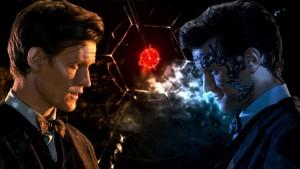 The Eleventh Doctor ( Matt Smith) and the Cyber Control (Matt Smith) - Doctor Who - Nightmare in Silver (c) BBC