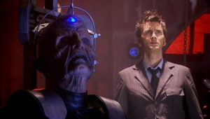 Davros and The Tenth Doctor (David Tennant) - Doctor Who - Journey's End (c) BBC