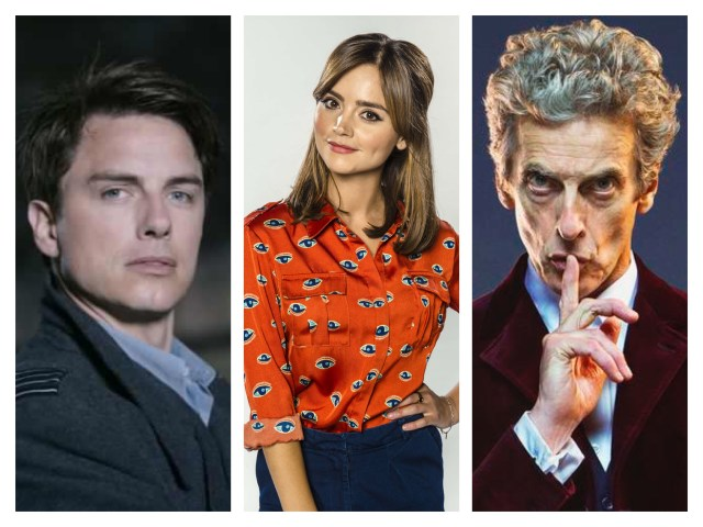 John Barrowman, Jenna Coleman and Peter Capaldi
