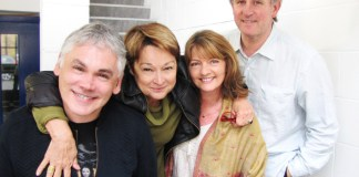 Matthew Waterhouse, Janet Fielding, Sarah Sutton and Peter Davison - Recording Doctor Who for Big Finish