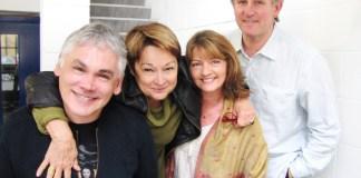 Matthew Waterhouse, Janet Fielding, Sarah Sutton and Peter Davison - Recording Doctor Who for Big Finish