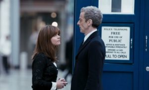 Clara Oswald (Jenna Coleman) and Twelfth Doctor (Peter Capaldi) - Doctor Who - Deep Breath (c) BBC