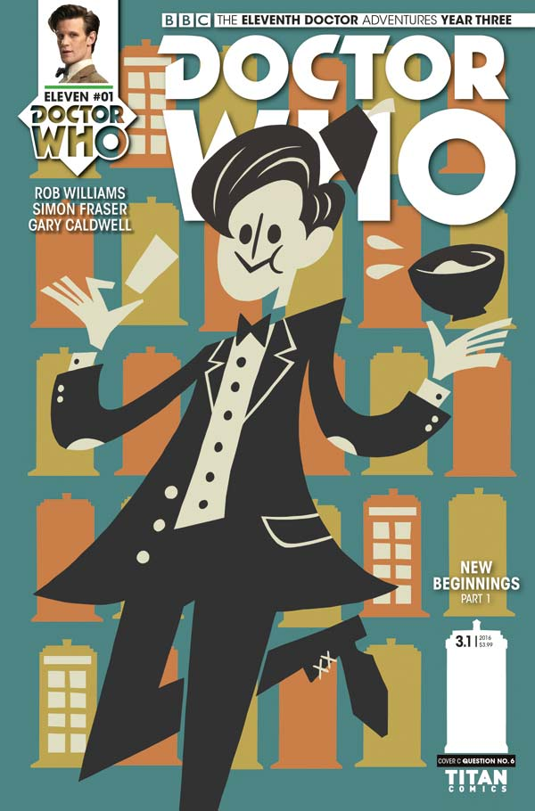 Doctor Who: The Eleventh Doctor Year Three #1 - Cover C by Question No. 6