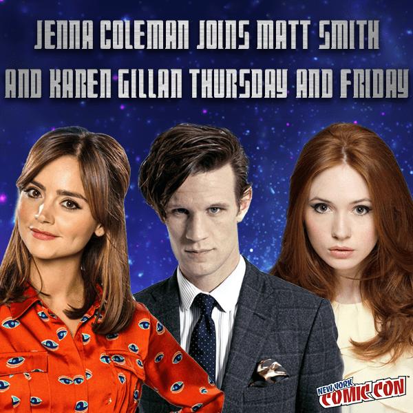 Jenna Coleman, Matt Smith and Karen Gillan - New York Comic Con 2016